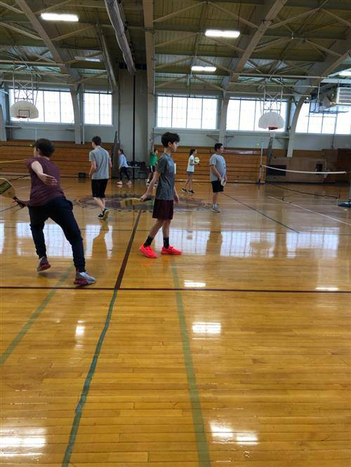 Students playing Pickleball at Lawrence
