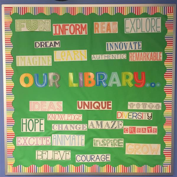 East Falmouth Library bulletin board
