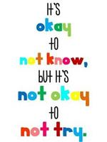 It's ok to not know in rainbow colors