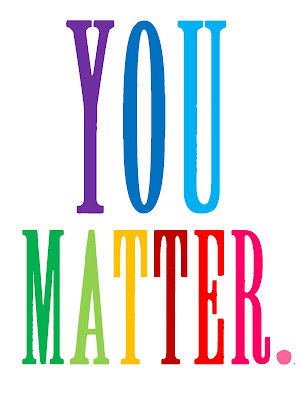 You Matter words in rainbow font