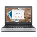 Chromebook with Google Search on Screen